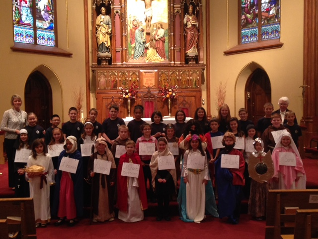 4th Graders honor the Saints at Celebration of the Saints Mass